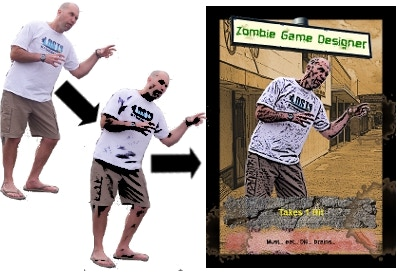 """Sample Zombie 2 - your photo with the """"art"""" effect (done by us)"""