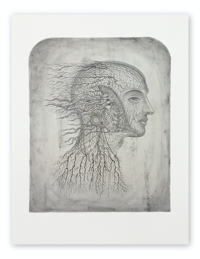 """Gold Level 4: Transmutation, 30"""" x 22"""", Limited Edition of 50 Stone Lithograph created exclusively for """"Soul of Science."""""""