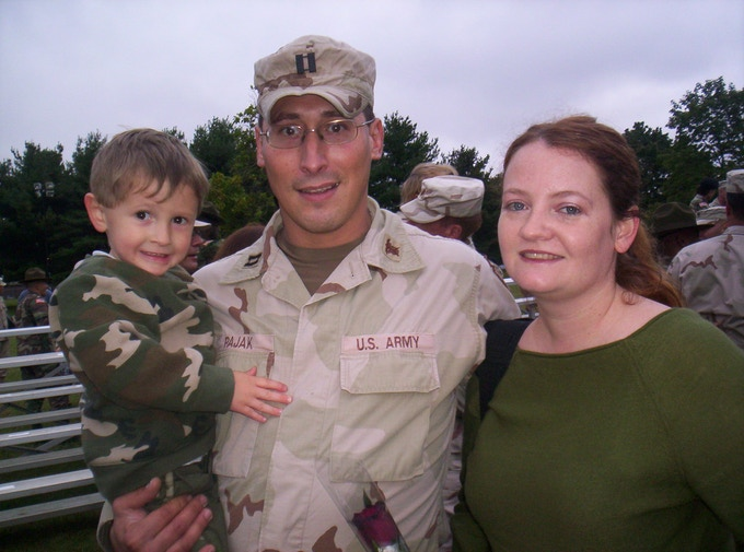 Welcome home ceremonies after 10 months in Iraq