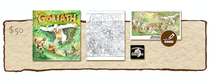 "KICKSTARTER EXCLUSIVE ""GOLIATH ARRIVES!"" VARIANT COVER EDITION PLUS SKETCHBOOK COVER #2"