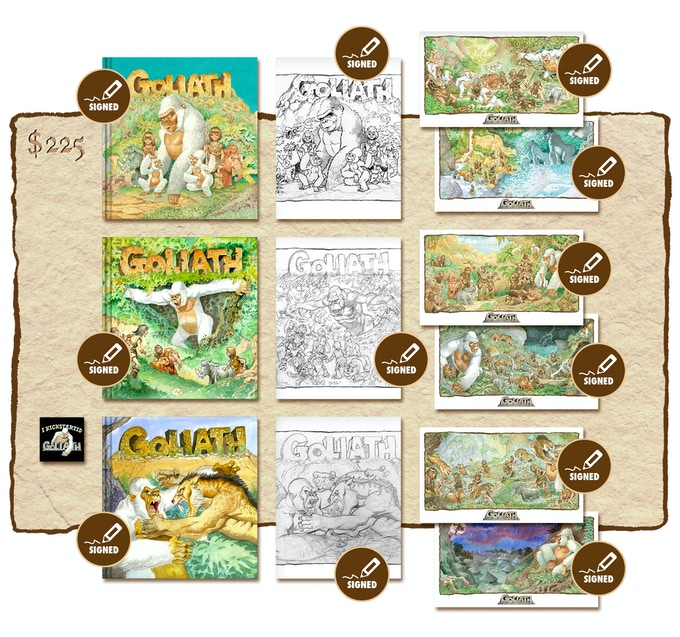 """KICKSTARTER """"ALL THREE SIGNED BOOKS AND ALL THREE SIGNED SKETCHBOOKS PLUS SIX SIGNED PRINTS"""" EDITION"""