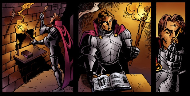 Example from the Shadowgate Classic Hint/Walk Thru Comic