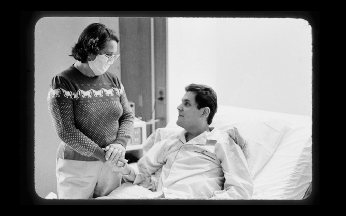 A lost photo of Carmen and Miguel after his heart transplant surgery in 1985