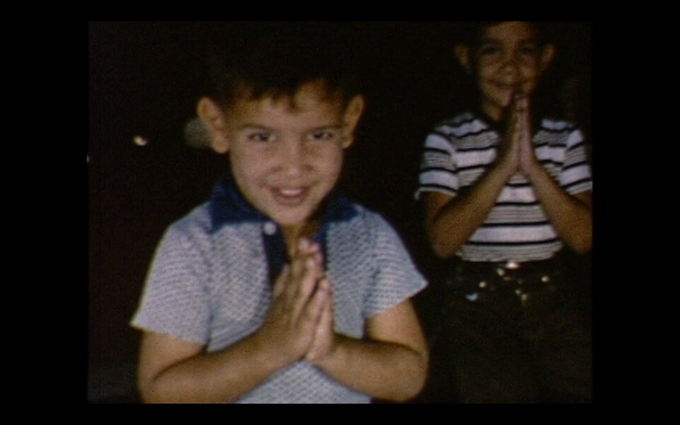 Miguel as a small child in a still from one of the lost 8mm films