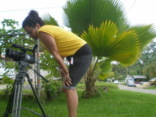 Shooting footage on location in Puerto Rico