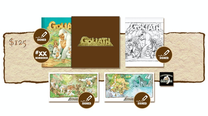"""DELUXE SIGNED AND NUMBERED KICKSTARTER """"PUBLISHER'S COVER"""" SLIP-CASED EDITION PLUS SIGNED SKETCHBOOK COVER #1"""