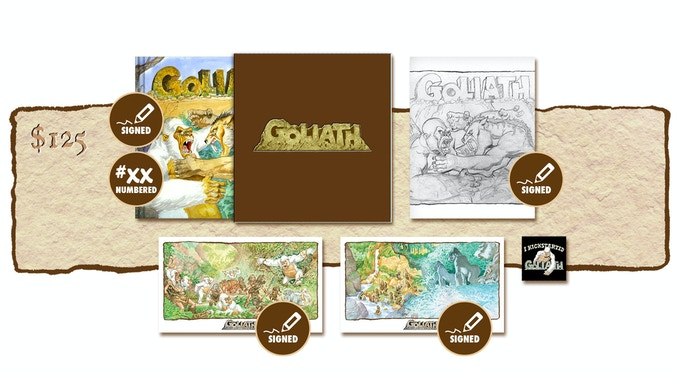 """DELUXE SIGNED AND NUMBERED KICKSTARTER EXCLUSIVE """"BATTLE OF THE BEHEMOTHS!"""" SLIP-CASED VARIANT COVER EDITION PLUS SIGNED SKETCHBOOK COVER #3"""