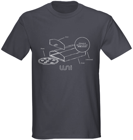 The T-shirt, roughly how it'll look.