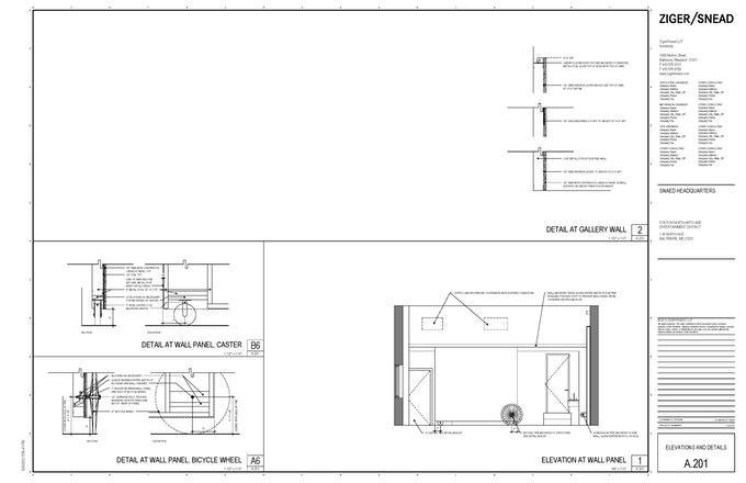1 W North Avenue, Elevations and Details.