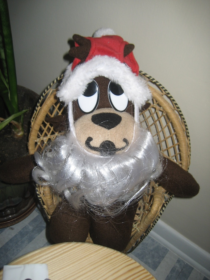This is me, dressing like Santa! Who is one polite character!
