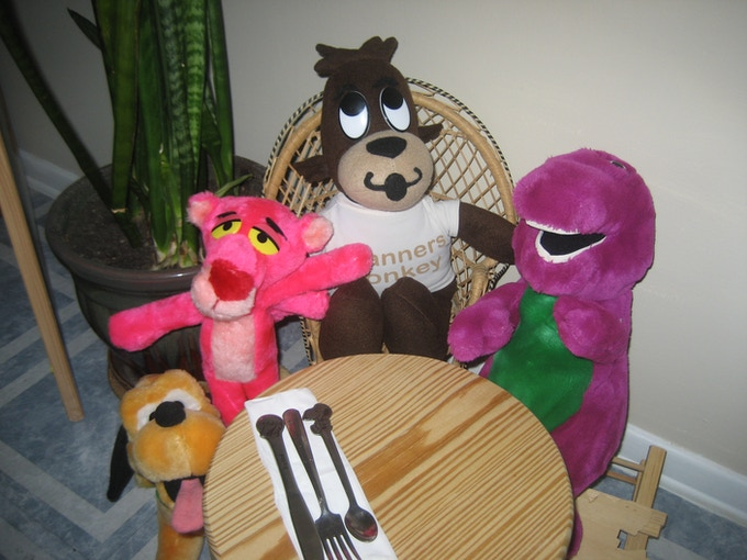 And this is me with some of my friends. We all have good manners!