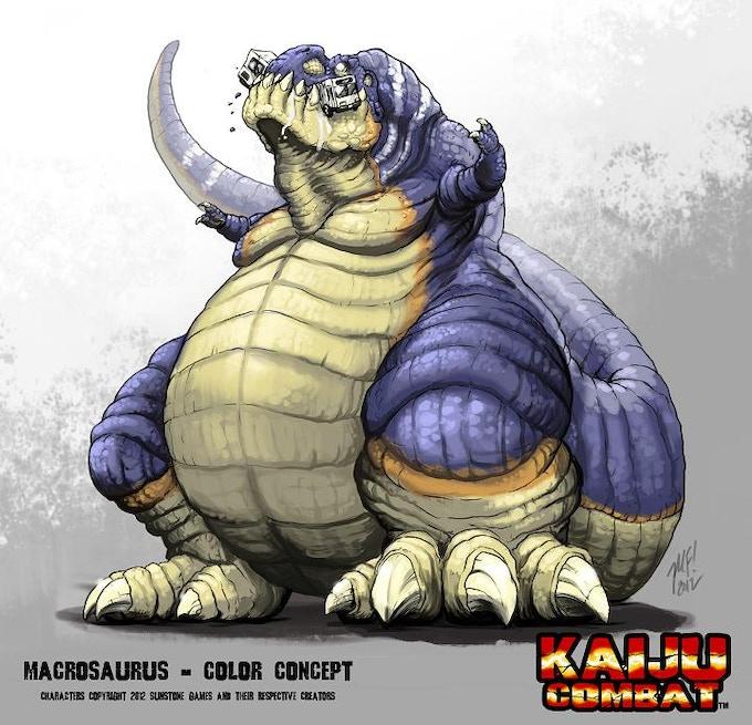 Macrosaurus - an original character for Kaiju Combat (art by Matt Frank)