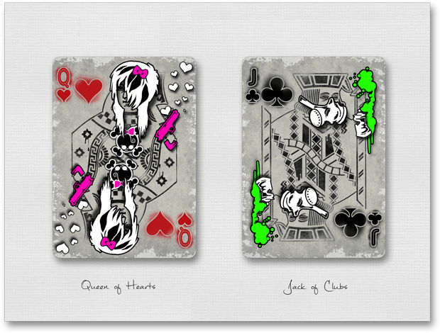 Urban Punk Queen of Hearts & Jack of Clubs
