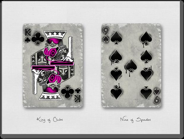 Urban Punk King of Clubs & Nine of Spades