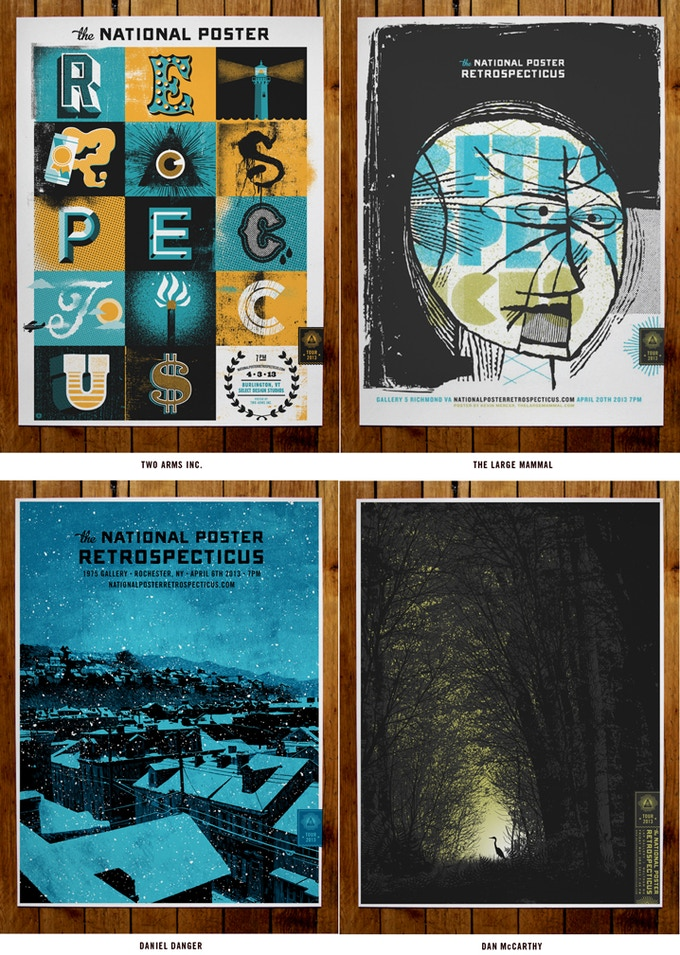 4 of the 8 posters for $250 Donation Reward