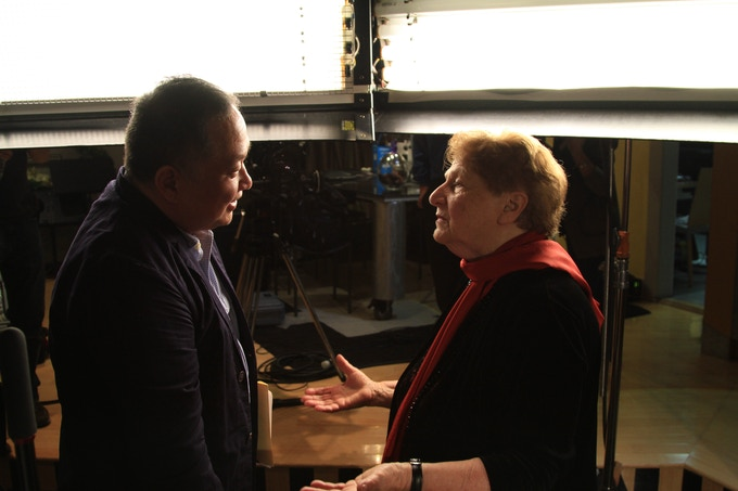 Director Ty Kim and Violinist and Teacher Jenny Rudin discuss the documentary after cameras stopped rolling.