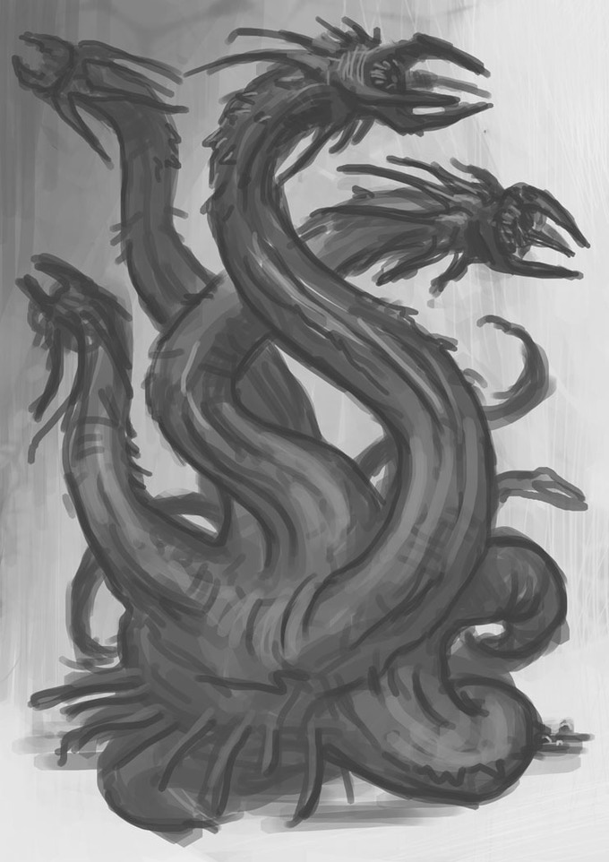 Goliath Wyrm! Des Hanley concept artist.