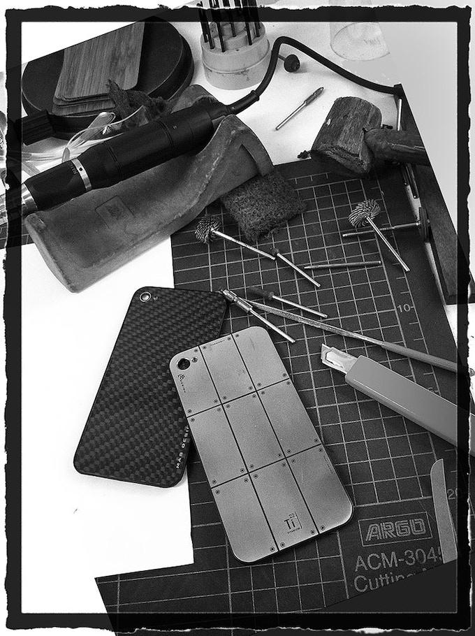 Handmade  Titanium Replacement Back Cover