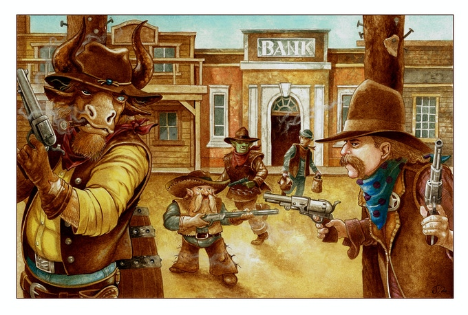 Dragon Stars prepare to ambush some bank robbers in Ironstone!