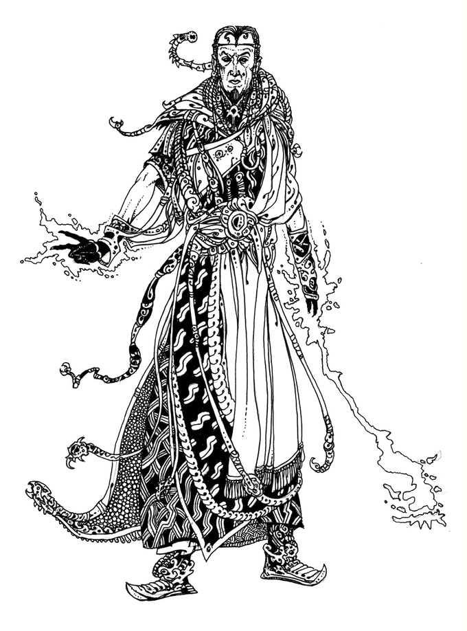 The Warlock by Russ Nicholson