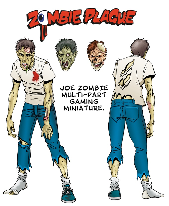 Joe will come with the three variant heads shown. Art by Ryan Howe.