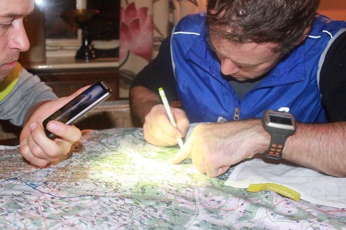NewForce mountain bike leader marks route onto washable map