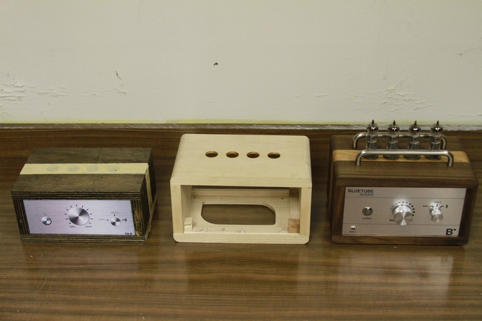 Our progression of amplifier prototypes...