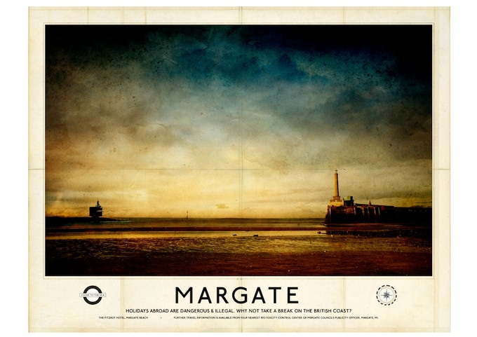 Poster B: 'Margate' by Gary Haslam (A2 size)