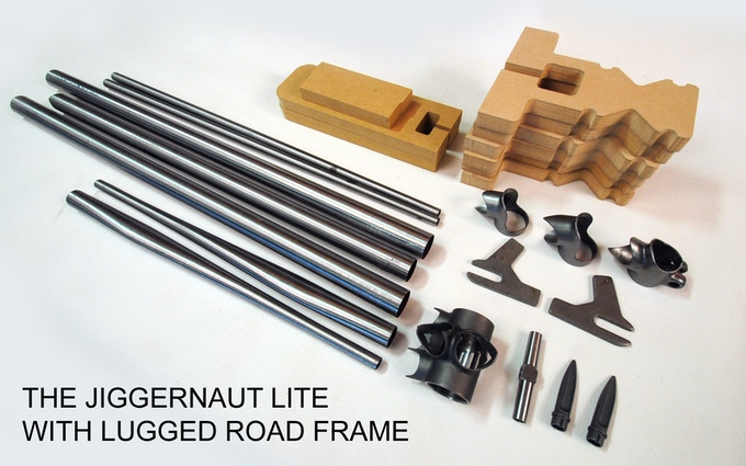 The Jiggernaut LITE with frame kit some items not pictured