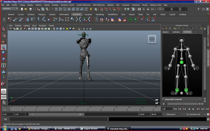 animating the model