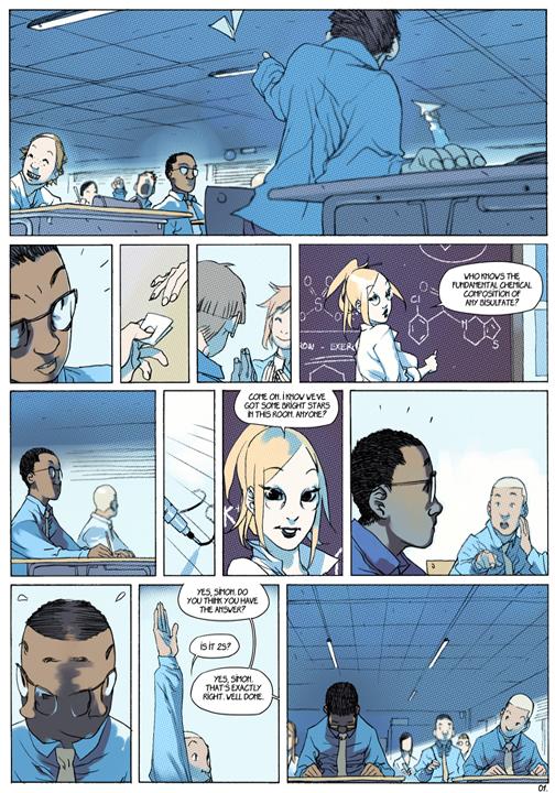 "page 1 of 6 ""Genetika: Gene Prep School Dream Sequence"" story.darion d'anjou art.bengal"