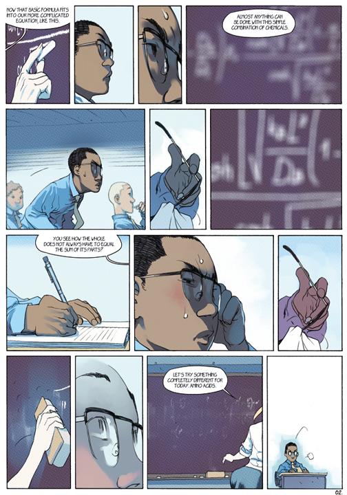 "page 2 of 6 ""Genetika: Gene Prep School Dream Sequence"" story.darion d'anjou art.bengal"