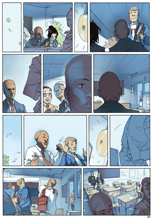 "page 3 of 6 ""Genetika: Gene Prep School Dream Sequence"" story.darion d'anjou art.bengal"