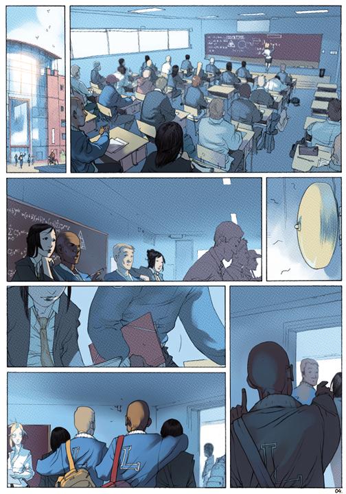 "page 4 of 6 ""Genetika: Gene Prep School Dream Sequence"" story.darion d'anjou art.bengal"