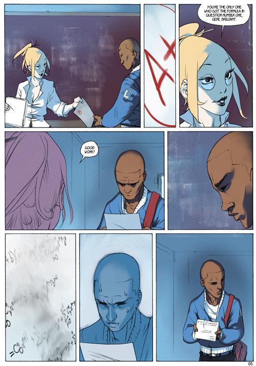 "page 5 of 6 ""Genetika: Gene Prep School Dream Sequence"" story.darion d'anjou art.bengal"