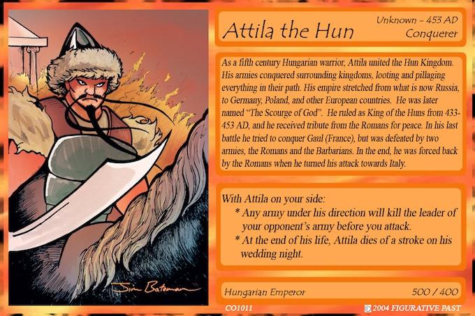 Historical Conquest Card - Attila the Hun