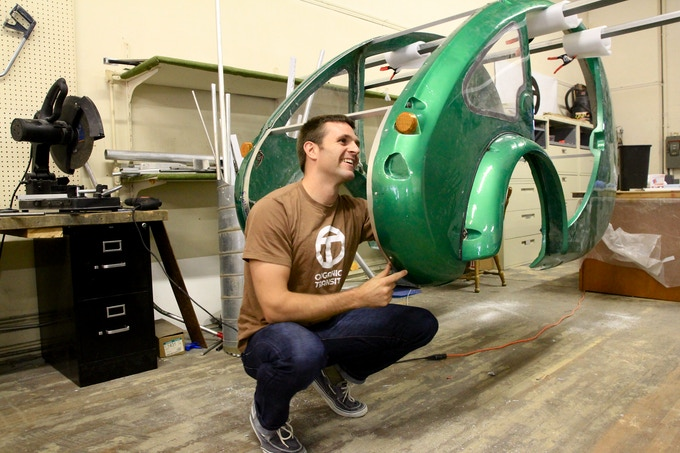 Brent working on a prototype body