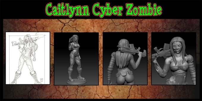 Caitlynn Cyber-Zombie Sculpted by INNER | LEAF Adama@inner-leaf.com