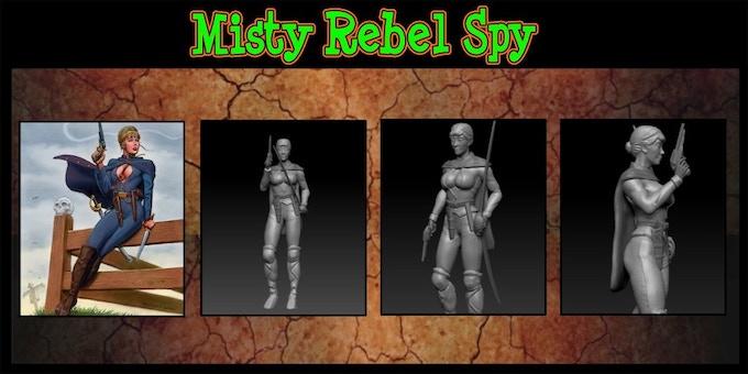 Rebel Spy 50% complete. Sculpted by  INNER | LEAF Adam@inner-leaf.com
