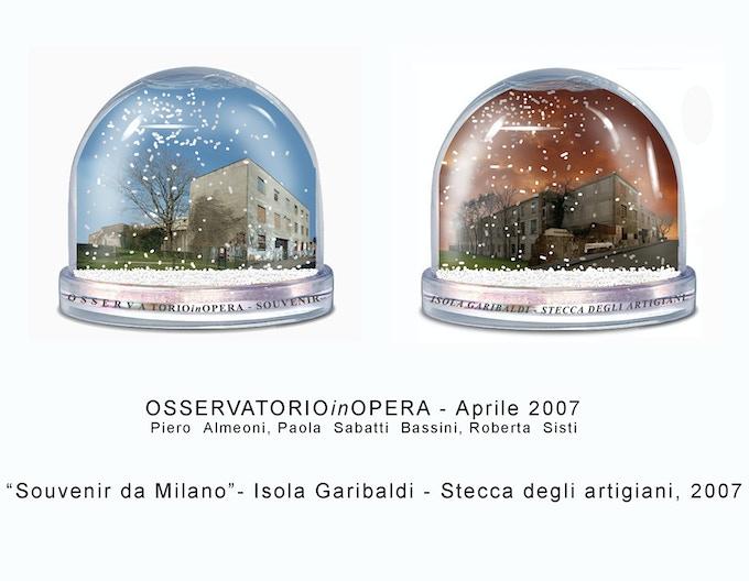 OsservatorioInOpera, «Snowglobes», 2007, plexiglas souvenir, 10 x 10 cm