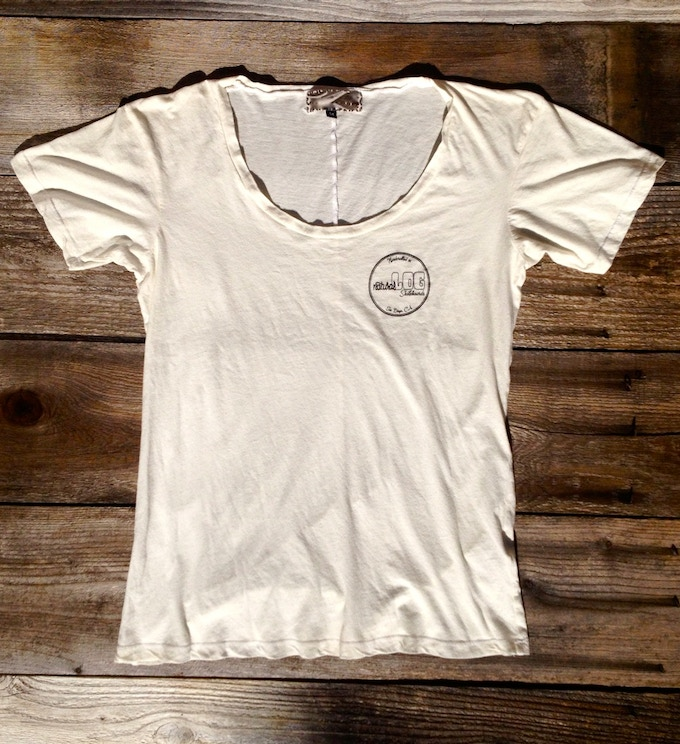 100% organic cotton women's tee-shirt made in Los Angeles, CA