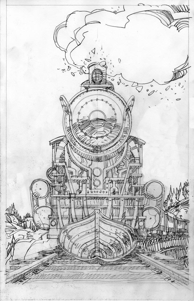 Walter Simonson cover image pencil prelim