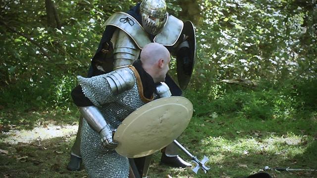 King Eadwyn Redway faces Sir Burwick Vymont