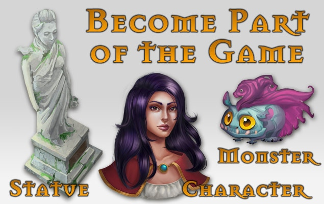 You can even become part of the game – build a statue, become a character or design a monster by working closely with out team.