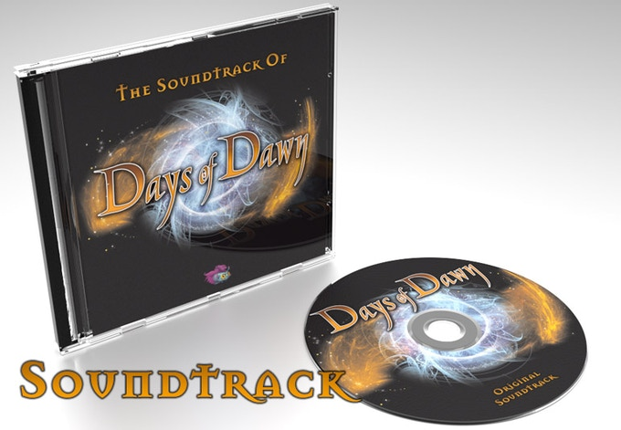 Days of Dawn's wonderful soundtrack packed in a beautifully illustrated Digipak, signed by Sound of Games.