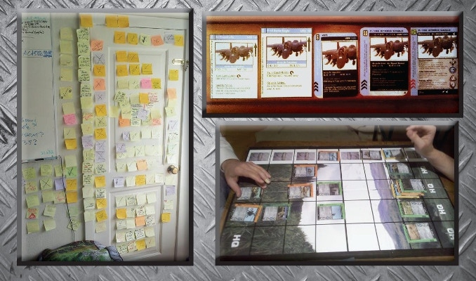In 2009, I began designing cards and mats and boards and playtest, playtest, playtest fine tuning the balance, fun, and real world stats.