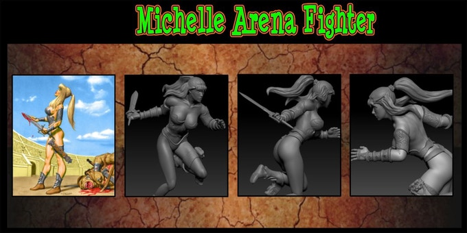 Michelle Arena Fighter sculpted by INNER | LEAF Adam@inner-leaf.com