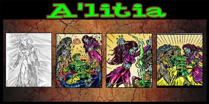 A'litia art by Chris Eisert and Scott Story