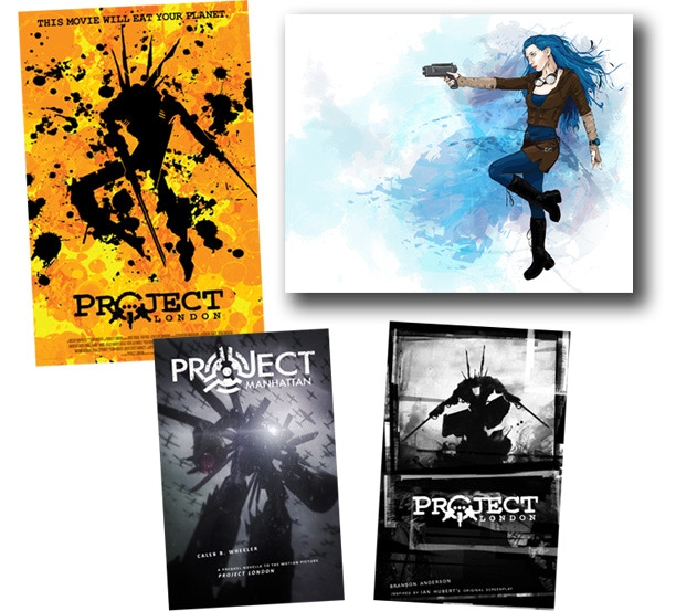 Project London Premiere Poster, Xing Xing Fix Art Print, Project Manhattan (Prequel Novella), Project London Graphic Novel