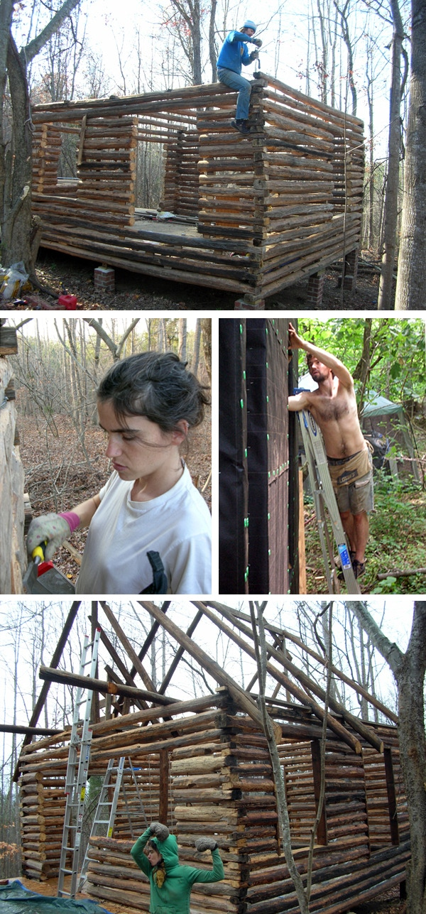We built the whole first story of the cabin without power tools.  It's come a long way since then.